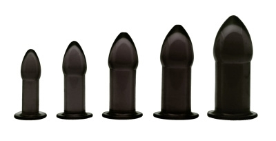5 Piece Anal Trainer Set - Black Anal Toys, Butt Plugs