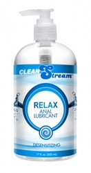 Clean Stream Relax Desensitizing Anal Lube 17 oz Personal Lubricants, Anal Lube, Numbing Supplements and Sprays