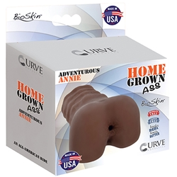HGA BioSkin Adventurous Annie Chocolate Home Grown Ass, Bio Skin, Ass Masturbation