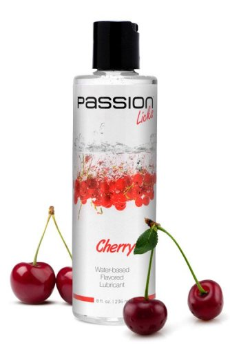 Passion Licks Cherry Water Based Flavored Lubricant - 8 oz Personal Lubricants, Water Based Lube, Flavored Lube