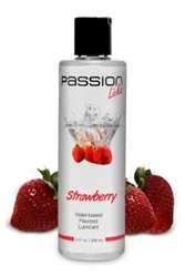 Passion Licks Strawberry Water Based Flavored Lubricant - 8 oz Personal Lubricants, Water Based Lube, Flavored Lube