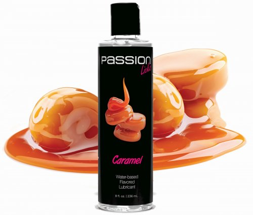 Passion Licks Caramel Water Based Flavored Lubricant - 8 oz Personal Lubricants, Water Based Lube, Flavored Lube