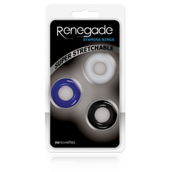 Renegade Stamina Rings Set of 3 Cock Rings, Stamina Rings