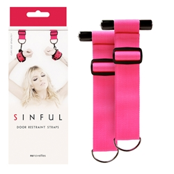 Sinful Door Restraint Straps Bondage Gear, Wrist and Ankle Restraints