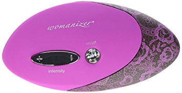 Womanizer Pro (W500) Magenta w/Lace Print Sex Toys for Her, Clit Stimulator, Clit Sucker