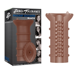 Zero Tolerance Pocket Sockets Black Pocket Masturbator