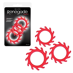 Renegade Gears Red Cock rings, Gear Cock Rings