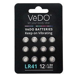VeDO Batteries LR41 - 12 Pack 1.5V Batteries, Miscellaneous