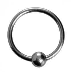 Steel Ball Head Ring Penis Jewelry