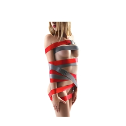 StrapeaseXL Bondage Straps 8ft Red Bondage Gear, Wrist and Ankle Restraints, Bondage Straps