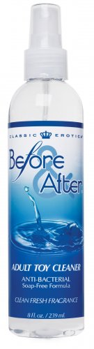 Before and After Anti-Bacterial Adult Toy Cleaner 8 fl oz Sex Toy Parties, Toy Cleaner