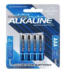 Doc Johnson Alkaline Batteries AAA 4-Pack Batteries, Home Party Packages