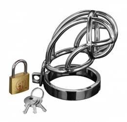 Captus Stainless Steel Locking Chastity Cage Chastity, Chastity for Him, Metal Chastity Devices