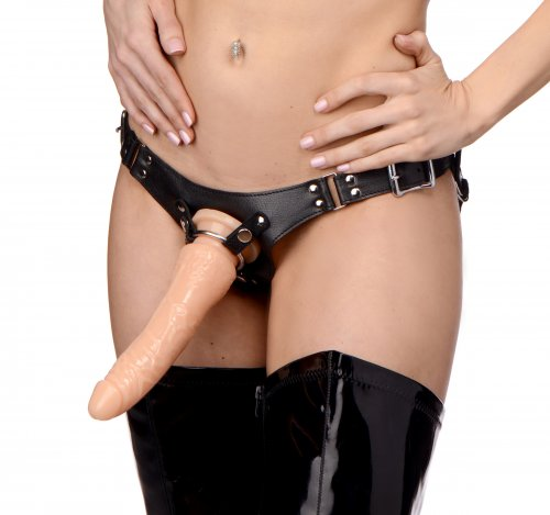 Dominance Leather Strap-On Harness Leather Bondage Goods, Strap-Ons and Harnesses, Leather Strap-On and Harness