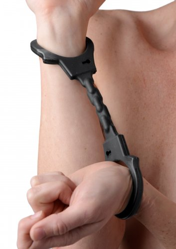Silicone Bondage Handcuffs Beginner Bondage, Handcuffs and Steel, Ankle and Wrist Restraints, Silicone Toys