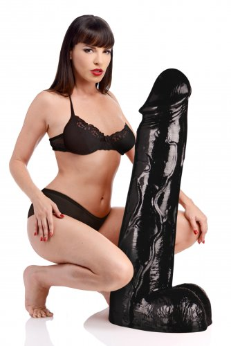 Moby Huge 3 Foot Tall Super Dildo - Black Dildos, Huge Insertables, Huge Dildos, Realistic Dildos