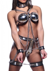 Female Chastity Full Body Steel Bondage Restraints Chastity, Chastity for Her