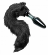 Midnight Fox Glass Butt Plug with Tail Anal toys, glass toys, butt plug, anal plug