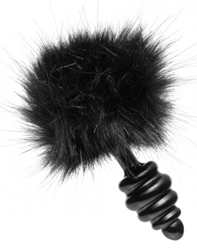 Black Bunny Tail Anal Plug Anal Toys, Metal Anal Toys, Butt Plugs
