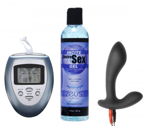 Electrify Your Prostate Silicone Estim Kit Anal Toys, Electrosex Gear, Personal Lubricants, Zeus Electrosex, Prostate Stimulators, Electrosex Power Boxes, Electrosex Insertables, Electrosex Accessories, Electrosex Lubes and Cleaners, Silicone Anal Toys, Silicone Toys