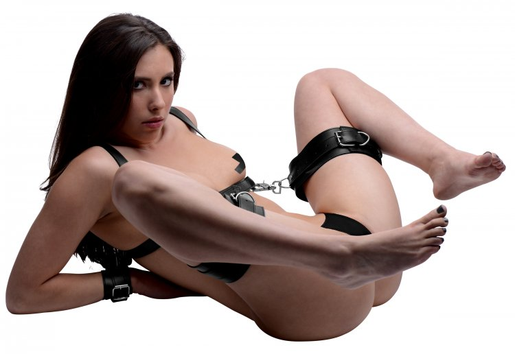 Deluxe Thigh Sling With Wrist Cuffs Beginner Bondage, Bondage Gear, Ankle and Wrist Restraints