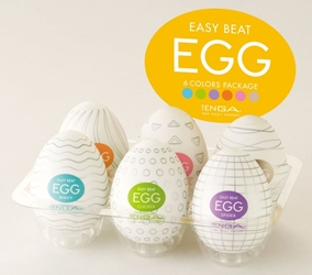 Easy Beat Egg Six Color Masturbator Six Pack Masturbation Toys