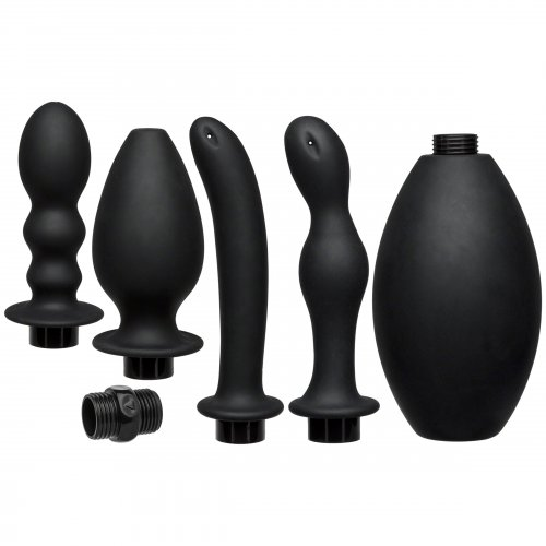 Kink Flow Full Flush Silicone Anal Douche Anal Toys, Medical Gear, Enema Supplies, Enema Anal Toys, Silicone Anal Toys, Silicone Toys