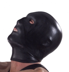 Black Hood with Eye Mouth and Nose Holes Bondage Gear, Hoods and Blindfolds, Hoods and Muzzles