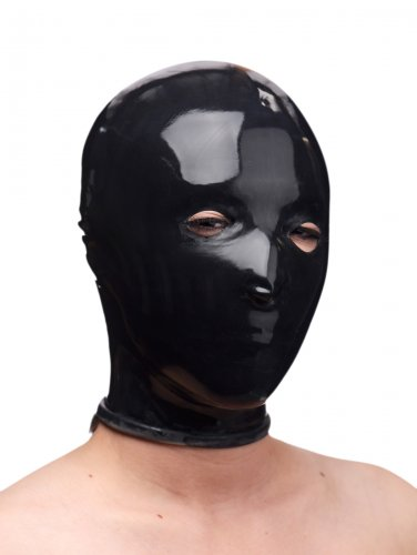 Rubber Slave Hood - Black Hoods and Blindfolds, Hoods and Muzzles