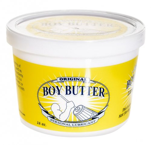 Boy Butter 16oz Tub Personal Lubricants, Anal Lube, Silicone Based Lube