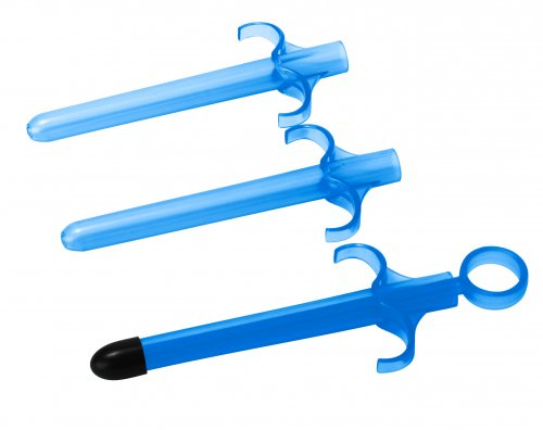 Lubricant Launcher 3 Pack - Blue Sex Toy Parties, Lube Applicators, Home Party Packages