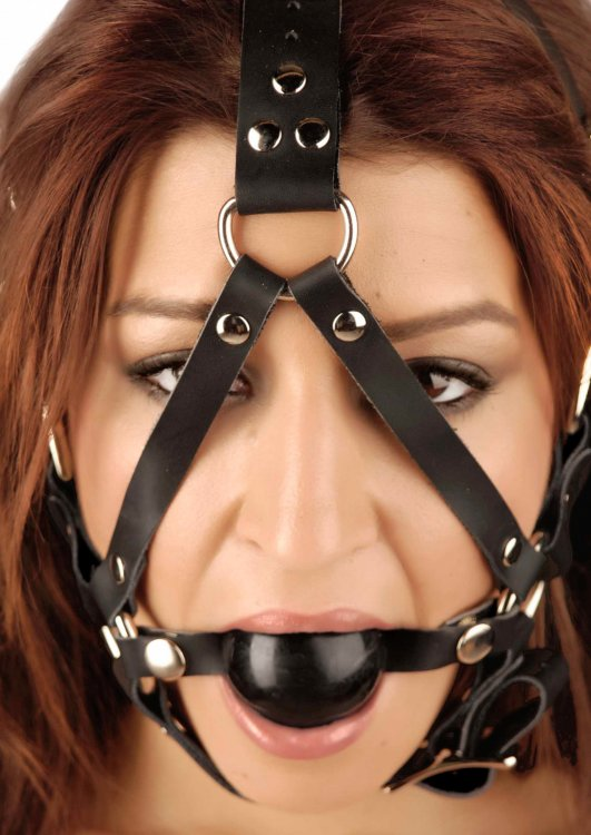 Strict Leather Leather Ball Gag Harness Vf891